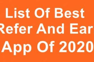 List Best Refer and earn app of 2020